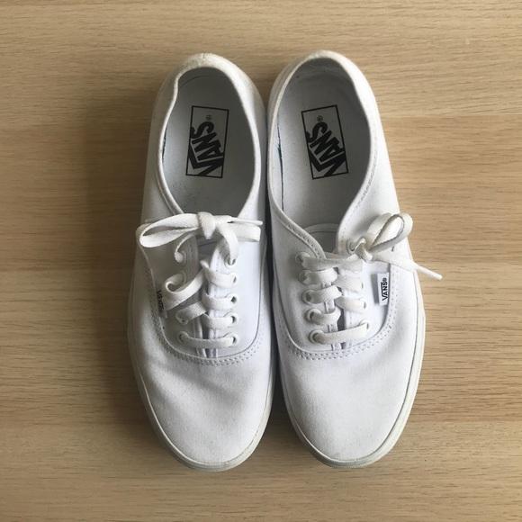 Vans Shoes | White Vans Womens Sz 9